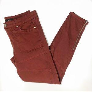 BDG Maroon Ankle Zip Skinny Pants size 28